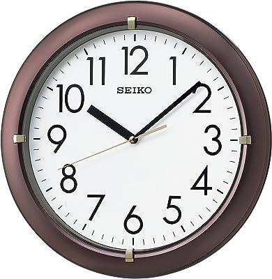 セイコー クロック 掛け時計 アナログ 茶 メタリック KX621B SEIKO KX621B