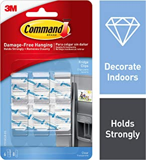 Command 4-packages of Clear Fridge Clips, Decorate Damage-Free (17210CLR), 24 Count