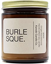 Kanobi Candle Co. Burleque Scented Soy Candle: 100% All Natural Soy Wax, Phthalate-Free Premium Fragrance, Lead-Free and Zinc-Free Cotton Wick, Long-Lasting, Clean Burn. (Burlesque)