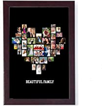 10in X 15in PERSONALIZED PHOTO COLLAGE LOVE SHAPED PHOTO COLLEGE MODEL 01 BLACK BACKGROUND FOR HOME DECOR AND GIFITNG PHOTO GIFT FRAME Personalised & Customised Gifts for Him Her Family Friends Father Mother Sister Brother Couple Spouse Wife Husband Baby Girlfriend Boyfriend Valentine's Day Loved Ones Birthday Anniversary Wedding & Marriage DIWALI GIFTS NEW YEAR GIFT DUSSERA GIFT CHRISTMAS GIFT