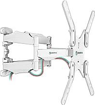 ONKRON TV Mount Full Motion Tilt Swivel Wall Bracket 35 to 60-Inch LED LCD Flat Panel TVs VESA up to 400 x 400 mm M5 White