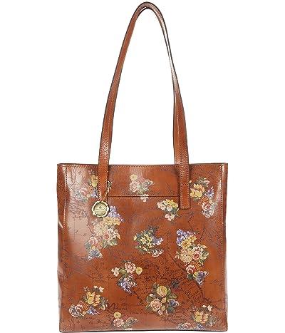 Patricia Nash Viana North/South Tote (English Garden Floral Map) Handbags