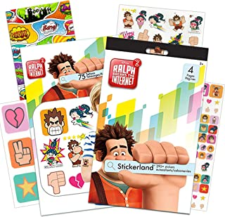 Wreck It Ralph Stickers and Temporary Tattoos Party Pack -- Over 290 Ralph Breaks The Internet Stickers, 75 Temporary Tattoos and Specialty Door Hanger (Wreck It Ralph Party Supplies)