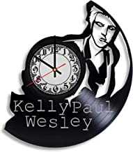 Kelly Paul Wesley Actor Handmade Vinyl Record Wall Clock, Get Unique Bedroom or Nursery Wall Decor - Gift Ideas for Kids and Teens - Unique Art Design