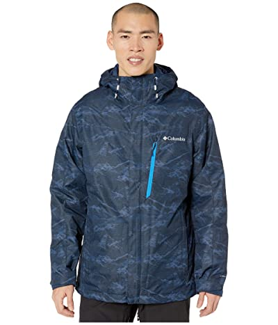 Columbia Whirlibirdtm IV Interchange Jacket (Collegiate Navy Mountains Jacquard Print) Men