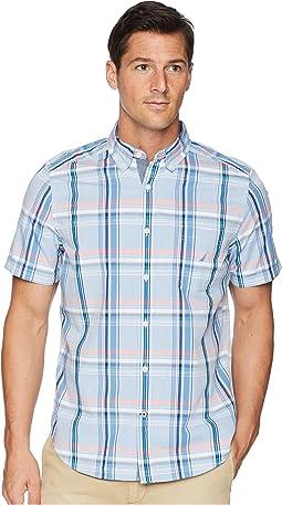 Short Sleeve Casual Plaid Shirt