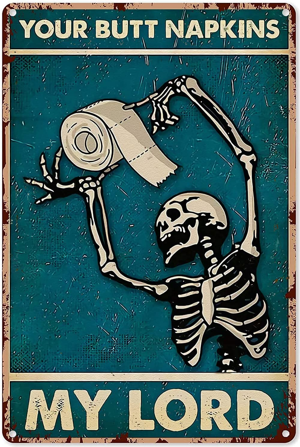 pladderman Funny Decor for Bathroom Your M Butt Skeleton Napkins Max 48% OFF Limited time sale