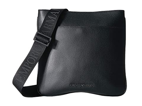 Emporio Armani Tumbled Leather Small Messenger Bag