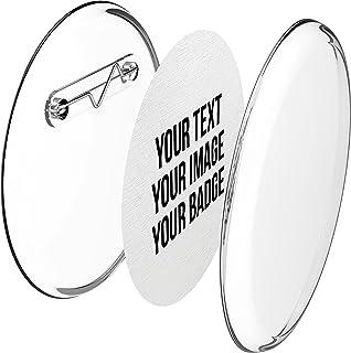 Faire ses badges personnalisés 56mm, avec épingle sans machine (lot de 10) et avec papier à imprimer
