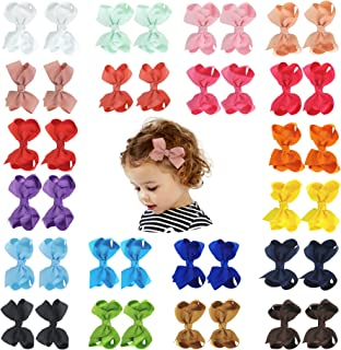 40PCS Hair Bows Baby Hair Clips for Babies Fine Hair Infants Toddlers Girls (3