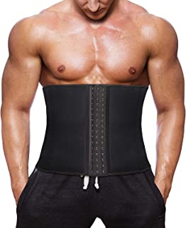 CORATED Men Waist Trainer Slimming Belt for Weight Loss Workout Fitness Neoprene Corset Fat Burner Sweat Trimmer Back Support Band with Sauna Effect