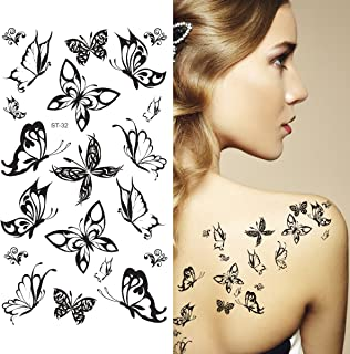 Best black butterfly temporary tattoos Reviews