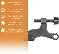 10 Pack - Vance Home Improvement - Oil Rubbed Bronze Hinge Pin Adjustable Door Stops - Heavy Duty (Handyman Designed) w/ORB Tip -Trial Tested in The USA to Completely Protect Doors & Walls
