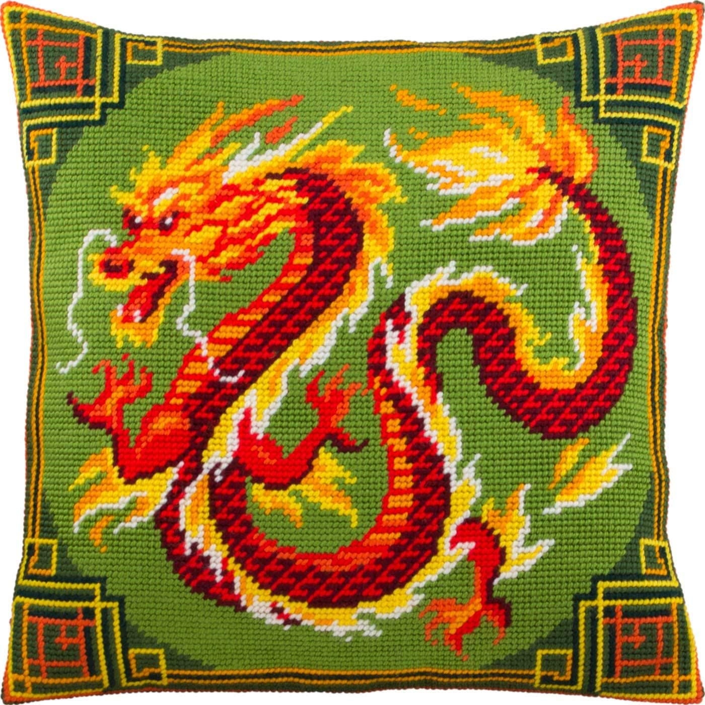 Chinese Dragon. Needlepoint Kit. Throw Pillow P 16×16 Quantity limited New item Inches.