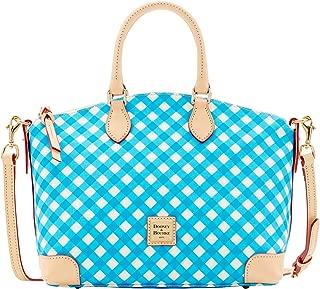Dooney & Bourke Gingham Satchel Cross Body Bag Purse Handbag