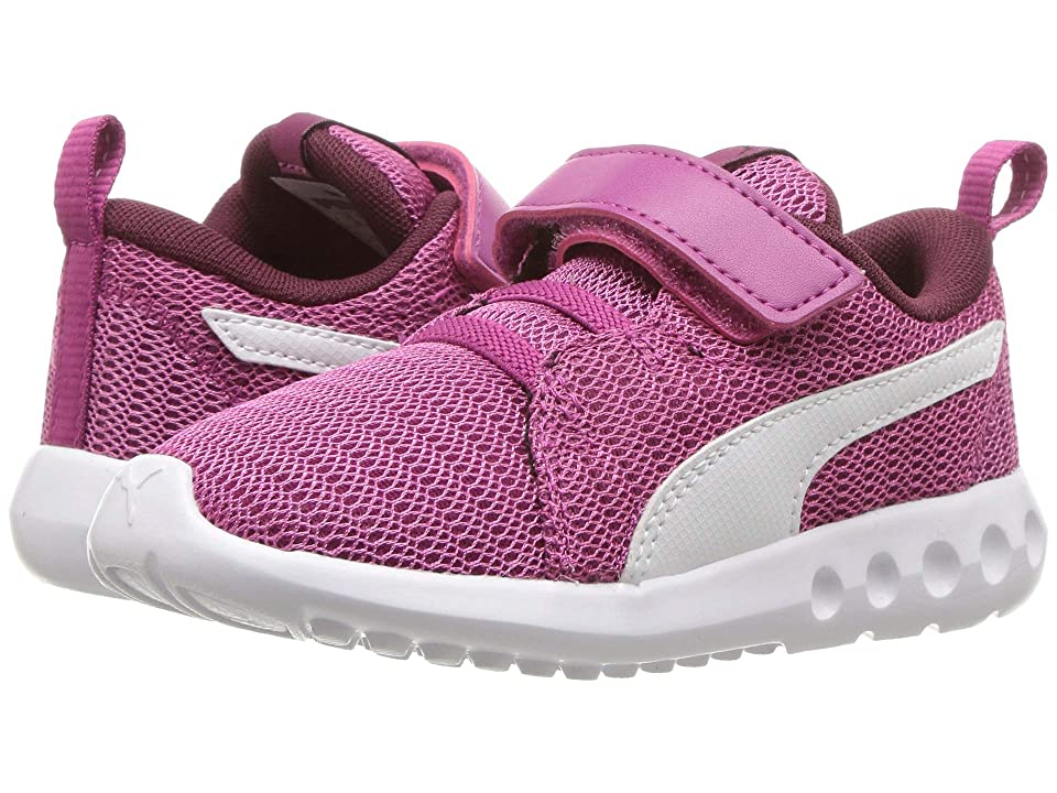 Puma Kids Carson 2 V (Toddler) (Magenta Haze/Fig/Puma White) Girls Shoes