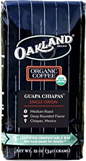 Oakland Coffee Works, Organic, Guapa Chiapas, Single-Origin, Certified Compostable Bag, 12 Ounce, Whole Bean