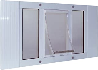 Ideal Pet Products Aluminum Sash Window Pet Door, Adjustable to Fit Window Widths from 33