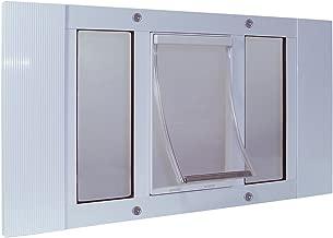 Ideal Pet Products Aluminum Sash Window Pet Door, Adjustable to Fit Window Widths from 33