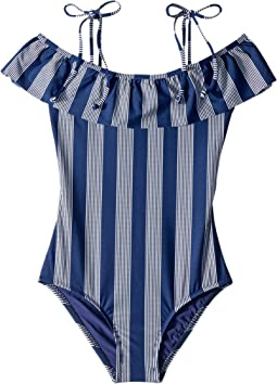 Long Lines Ruffle One-Piece (Big Kids)