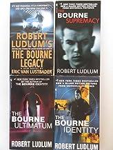 Robert Ludlum 4 Book Set - Bourne Series - The Bourne Legacy, The Bourne Supremacy, The Bourne Ultimatum, The Bourne Identity