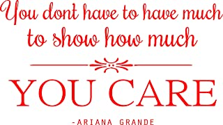 Vinyl Wall Decal: Ariana Grande Vinyl Sticker Quote - Inspirational Singer Wall Decal - 20