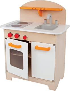 Hape Gourmet Kitchen Toy Fully Equipped Wooden Pretend Play Kitchen Set with Sink, Stove, Baking Oven, Cabinet, Turnable K...