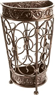 Brelso Super Quality Umbrella Stand, Umbrella Holder, Antique Look Metal, Entry Hallway Décor, Wallside Style, w/Removable Drip Tray (Bronze)