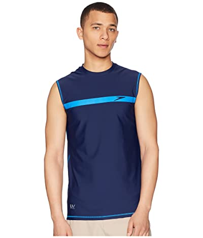 Speedo Startline Sleeveless Rashguard (Speedo Navy) Men