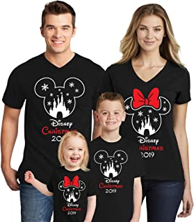 Natural Underwear Mouse Family Trip Men Women Kids Boys T-Shirts