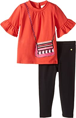 Kate Spade New York Kids - Trompe L'Oeil Leggings Set (Infant)