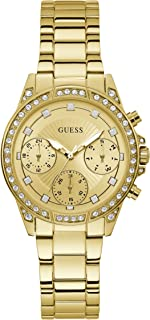 GUESS - W1293L2 - WATCH FOR LADIES GOLD WITH CRYSTAL STAINLESS STEEL MULTIFUNCETIONAL