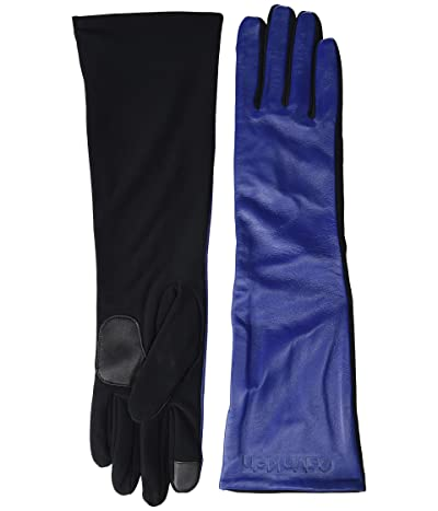 Calvin Klein Long Leather Touch Gloves (Night Oil) Over-Mits Gloves