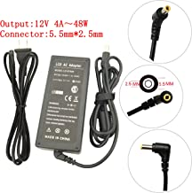 12V 4A 48W AC Adapter Charger Replacement For HP LCD Monitor 2311X 2311F 2311CM,Acer LCD Monitor AC501 AC711 AC915 AF705;ADI A2304 A500 A5000 A501,Acer BenQ AOC LED LCD Monitor power supply cord