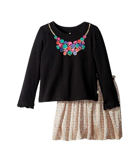 Kate Spade New York Kids Metallic Knit Skirt Set (Toddler/Little Kids)