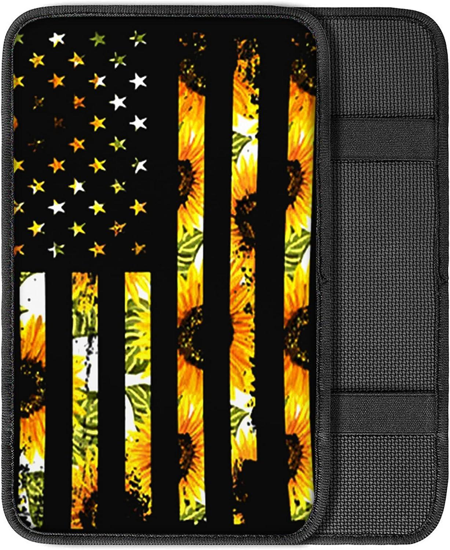 Cozeyat Sunflower Flag Year-end annual account Design Car Washington Mall Console Elbow Center Pillow Cu