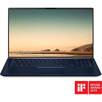 "Asus ZenBook 15 Ultra Slim Compact Laptop 15.6"" FHD 4-Way NanoEdge, Intel Core i7-8565U Processor, 16GB DDR4, 512GB PCIe SSD, GeForce GTX 1050, Ir Camera, Windows 10, UX533FD-DH74, Royal Blue"