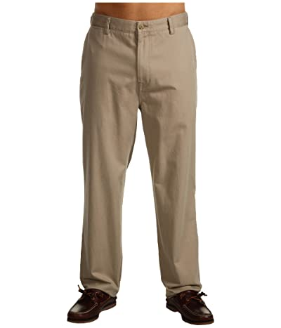 Nautica Big & Tall Big Tall True Flat Front Pant (True Khaki) Men
