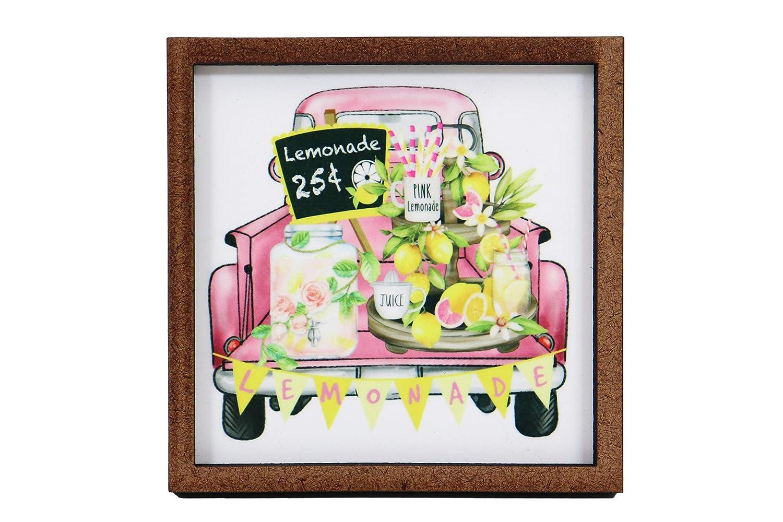Lemonade 25¢ Truck Sign Tray Wooden Tier Super specialty shop intense SALE -