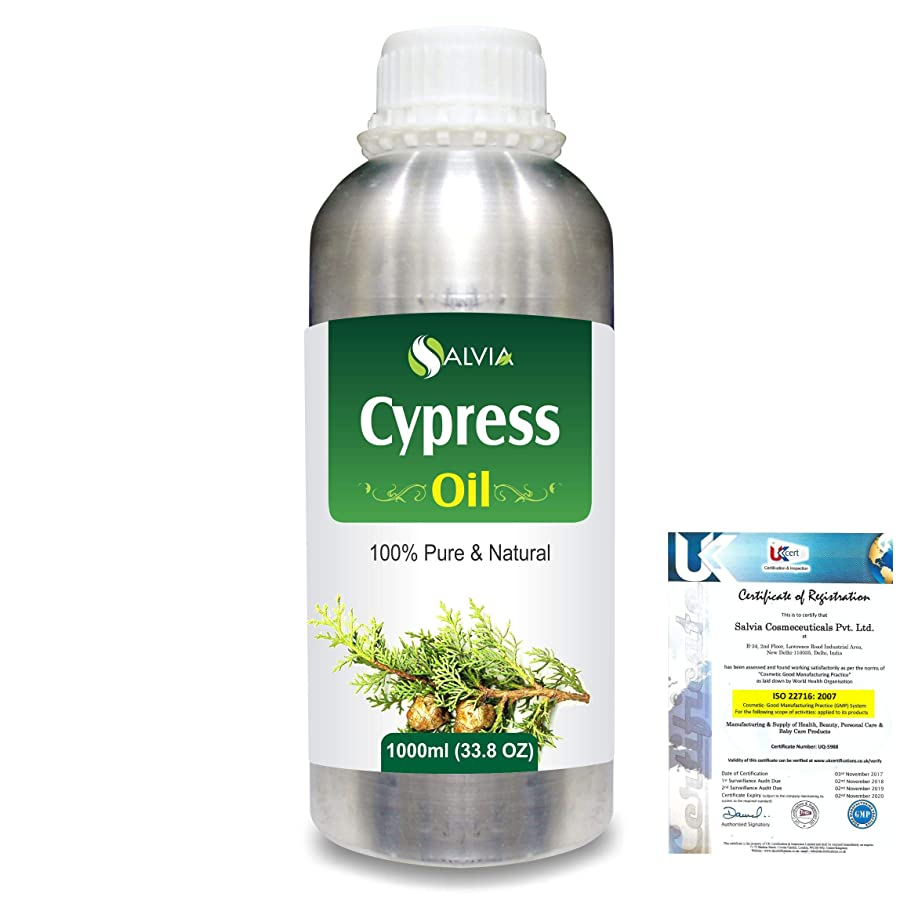パトロンの計算Cypress(Cupressus sempervirens) 100% Natural Pure Essential Oil 1000ml/33.8fl.oz.