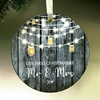 1st Christmas Ornament Mr and Mrs 2019 4