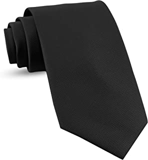 Extra Long Ties For Men Woven Big and Tall Tie Mens Ties : XL Solid Color Necktie