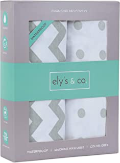 Waterproof Changing Pad Cover Set   Cradle Sheet Set by Ely's & Co no Need for Changing Pad Liner