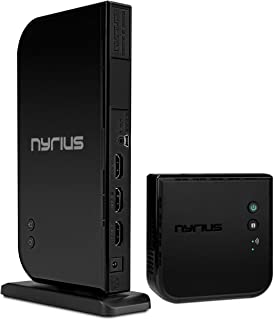 Nyrius ARIES Home+ Wireless HDMI 2x Input Transmitter & Receiver for Streaming HD 1080p 3D Video and Digital Audio from Ca...