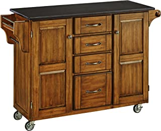 Home Styles Create-a-Cart 9100 Series Kitchen Cart with Black Granite Top, Cottage Oak