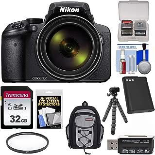 Nikon Coolpix P900 Wi-Fi 83x Zoom Digital Camera with 32GB Card + Battery + Filter + Backpack + Tripod Kit (Renewed)
