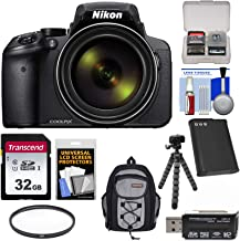 Nikon Coolpix P900 Wi-Fi 83x Zoom Digital Camera with 32GB Card + Battery + Filter + Backpack + Tripod Kit (Renewed)