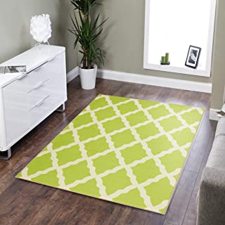 Best lime green contemporary rugs Reviews