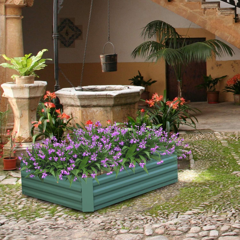 Aoodor Raised Garden Bed Vegetable Plants Furits Planter Box 120 x 90 x 30 cm