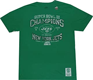 New York Jets Super Bowl 3 Champions Vintage Slim Fit T Shirt (XXL)